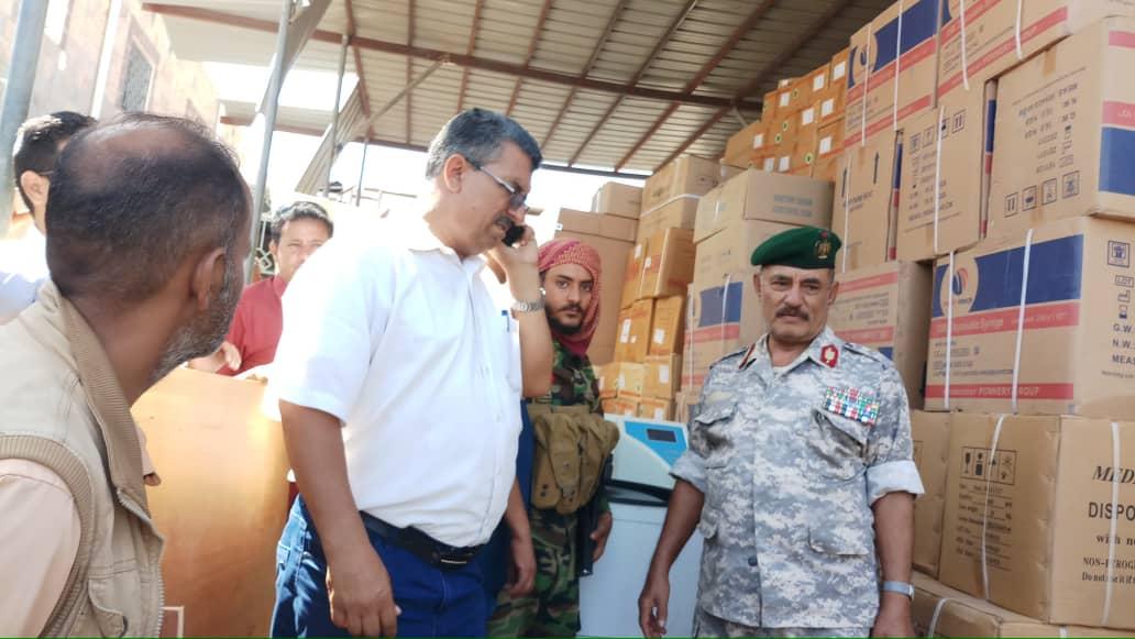 محافظ الضالع يشيد بدولة الامارات العربية بدعم مستشفى النصر العام والميداني بالمحافظة