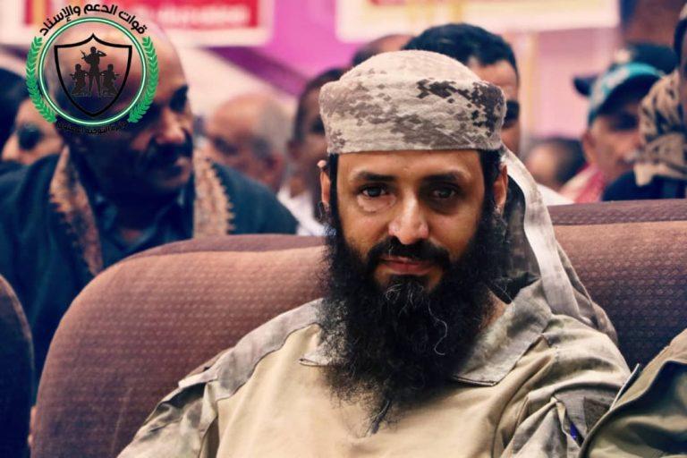 قائد قوات الدعم والاسناد  يعزي محافظ العاصمة عدن بوفاة عمه
