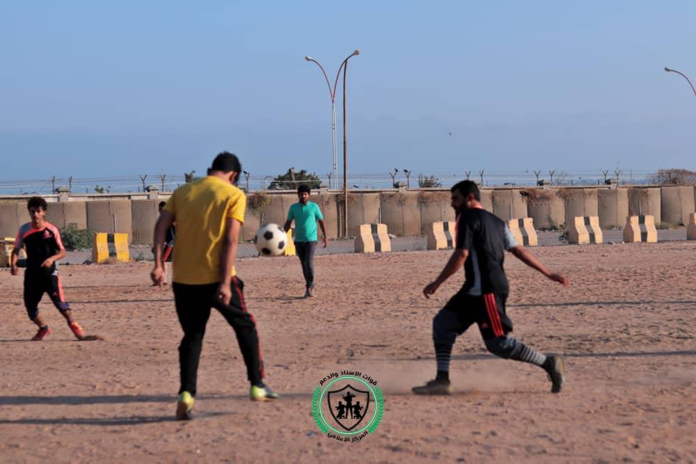 اللواء الرابع يمطر شباك تقنية المعلومات بعشرة اهداف ضمن مباراة دوري الدعم والإسناد لكرة القدم